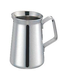日本製 コーヒー ・ ティー 用品 プロ仕様 18-8 ステンレス ミルクポット ET型 蓋ナシ 5人用 業務用 可