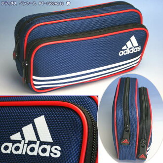 Adidas pencil case fastening pencil case Blue