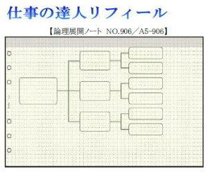 仕事の達人リフィール 論理展開ノート システム手帳 A5サイズ