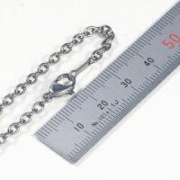 チタン、ネックレスチェーン、アズキ3mm51〜60cm