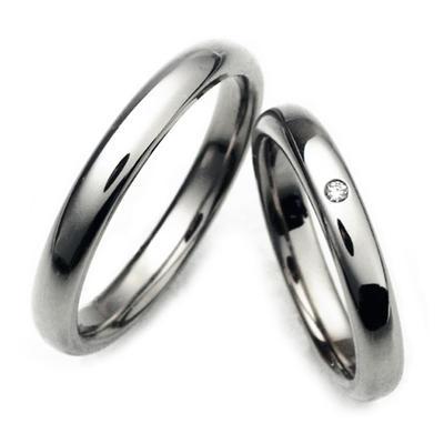 チタンリング、コンピューター刻印無料、2本セットノンアレルギー、ペアマリッジリング、結婚指輪、自社製作でカスタム可、アフターケアも安心!TIRR03PD