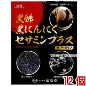廣貫堂 黒酢黒にんにくセサミンプラス 15g30包 12個 ゼリータイプ