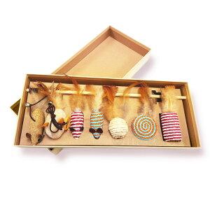 まがり堂 ギフト に最適なボックス入り 天然素材の 猫じゃらし セット 7個入り ◇ 送料無料 猫 ねこ キャット ペット おすすめ 人気 可愛い かわいい おしゃれ プレゼント 贈り物 お祝い 遊ぶ