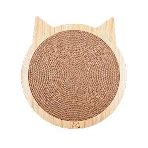 まがり堂 木製 ねこ型 爪とぎ (Sサイズ) 壁は窓にも設置できる 吸盤付き ◇ 送料無料 猫 ねこ キャット ペット おすすめ 人気 可愛い かわいい おしゃれ プレゼント 贈り物 用品 麻ひも 爪研ぎ