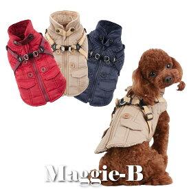 ペット用品 犬 新作犬服 秋冬パピア ハーネス一体型裏起毛コート 3カラー ベストタイプ 犬 犬用 ペット 犬 犬服 ドッグウェア 服