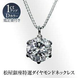 松屋銀座特選Dカラーダイヤモンドネックレス1ct