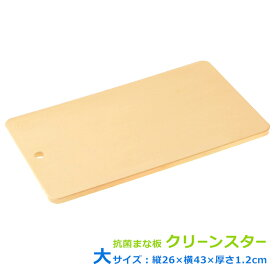 匂いがつきにくく半永久的に抗菌効果が持続する合成ゴムまな板 クリーンスター 大サイズ