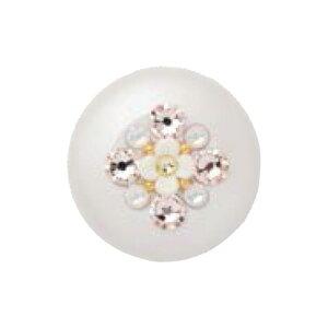 シャチハタ おしゃれ 朱肉 洋柄 フラワー 花 ホワイト 白 かわいい 3D絵柄 蓋つき 送料無料【WZ】