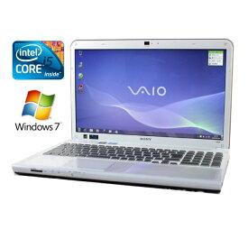 ノートパソコン 中古パソコン ノートPC Kingsoft Office付き 【送料無料】SONY VAIO Cシリーズ VPCCB39FJ【Core i5/8GB/750GB/ブルーレイ/15.5型/Windows7/無線LAN/Webカメラ/Bluetooth】【中古】