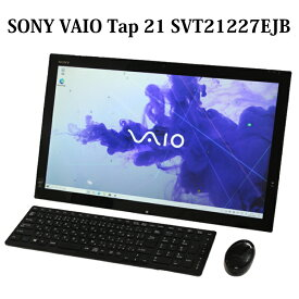 SONY VAIO Tap 21 SVT21227EJB Core i3 4GB 1TB 21.5型 無線LAN Windows10 Webカメラ Bluetooth Microsoft Office オフィス 中古パソコン 一体型 デスクトップ 【中古】