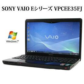 【在庫処分特価】SONY VAIO Eシリーズ VPCEE35FJ マットブラック【Athlon/4GB/320GB/DVDスーパーマルチ/15.6型液晶/Windows7/無線LAN/Webカメラ】【中古】【中古パソコン】【ノートパソコン】