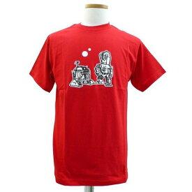 スターウォーズTシャツ R2-D2&C3PO Mindress【STAR WARS スターウォーズ グッズ Tシャツ 赤 メンズ】Mサイズ ネコポス発送 マジックナイト SW001