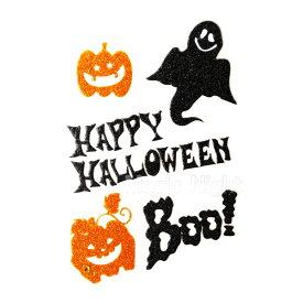 フェイスシール グリッター Boo!! Ghost【ハロウィン 仮装 コスプレ メイク フェイスペイント フェイスタトゥ シール オバケ パンプキン】 定形外発送可 1p94円 2p140円 マジックナイト RQ014