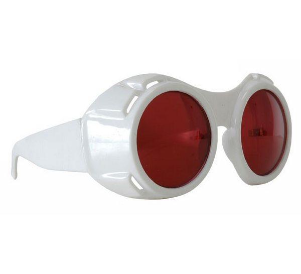 ハイパービジョンゴーグル 白【おもしろメガネ おもしろサングラス パーティーグッズ 面白メガネ 赤レンズ】定形外発送可 1p340円 マジックナイト EL300230