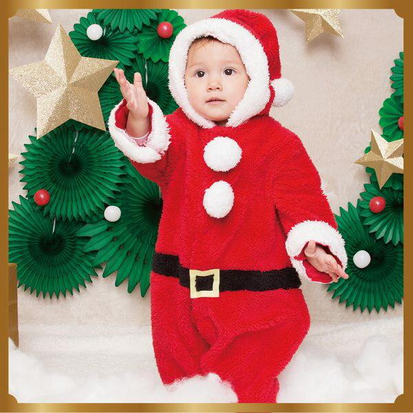 マシュマロサンタカバーオール Baby ベビー 子供用【クリスマス グッズ 着ぐるみ キッズ チャイルド サンタクロース】即日発送可 マジックナイト CS874393
