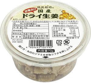 国産ドライ生姜 砂糖漬け 70g 信州自然王国【送料無料】