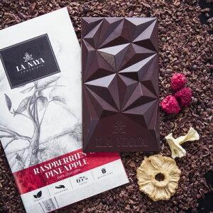 【冬季数量限定】ラナヤ LA NAYA ラズベリーとパイナップルのダークチョコレート 80g【4個までメール便可】