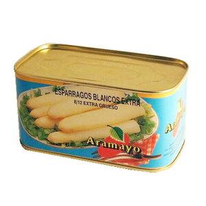 スペイン産高級アスパラガス 極太ホワイトアスパラ水煮缶【送料無料】
