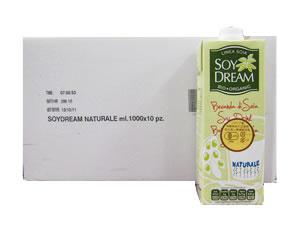 有機JAS認定イタリア産有機栽培大豆使用無調整豆乳SOYDREAM(ソイドリーム)おまとめ買い(1000ml×10本)