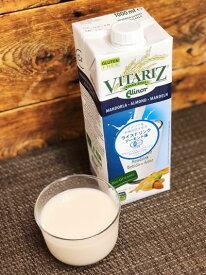 【在庫限り】有機JAS認定 有機栽培米使用 ライスドリンク(ライスミルク) VITARIZ (ビタリッツ) アーモンド味 1000ml