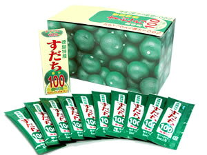 徳島産 すだち天然果汁100% すだち果汁スティック 5ml×10本(スティック入)【メール便可】