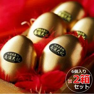 【2箱セット】烏骨鶏本舗 烏骨鶏ゴールデンエッグ(6個入×2) (味付燻製たまご)【送料無料】 ギフト(お中元 お歳暮 敬老の日 お祝い 景品)