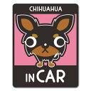 【車ステッカー】チワワ ロングコート タンカラー 選べる毛色全3種【CHIHUAHUA IN CAR】ドッグインカー ペットインカ…