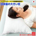 日本製 まくら 大きい枕 50×70 【送料無料】 洗える 高さ調整 特大 首こり 肩こり 枕カバー2枚付き アレルアクア加工 安眠 健康枕 マクラ