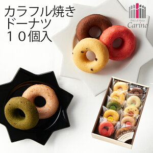 カリーノ カラフル焼ドーナツ詰合せ 10個 NCYD-20 (-99043-03-) (t3) ? 内祝い ギフト お菓子 人気 出産内祝い 結婚内祝い 快気祝い