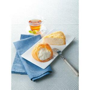 北海道ミルクレープ&シュークリームセット 5815−070067[メーカー直送品・メーカー指定熨斗]送料無料