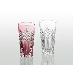 KAGAMI 江戸切子・ペアスリムグラス[豆8]耐熱 保温 保冷 グラス コップ 冷茶 酒 飲料ボトル シンプル おしゃれ ジュース 飲料 ギフト 贈り物 お祝い プレゼント 母の日 父の日