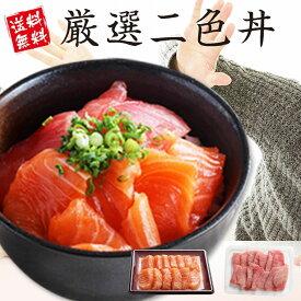お中元 海鮮 ギフト マグロ サーモン 海鮮セット 海鮮丼 プレゼント まぐろ 鮪 食べ物 手巻き寿司 御祝 内祝 誕生日 厳選二色丼 gd85