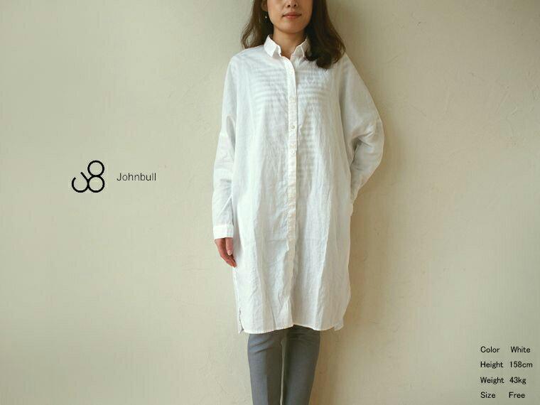 《 SALE 》【送料無料】JOHNBULL(ジョンブル) ルーズシャツドレス