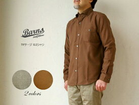 《 SALE 》BARNS outfitters (メンズ・バーンズ) TRサージ B.Dシャツ