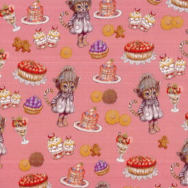 Ringoリンゴ オックス生地<Sweets CAT CoCoちゃん>(ココちゃん)FP フランボワーズピンク【RINF-04FP】