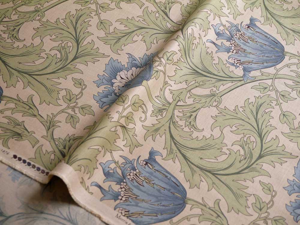 moda fabrics(モダ・ファブリックス)William Morris ウィリアムモリス シーチング生地<Anemone>(アネモネ)<TURTLE DOVE(タートルダブ)>8217-22