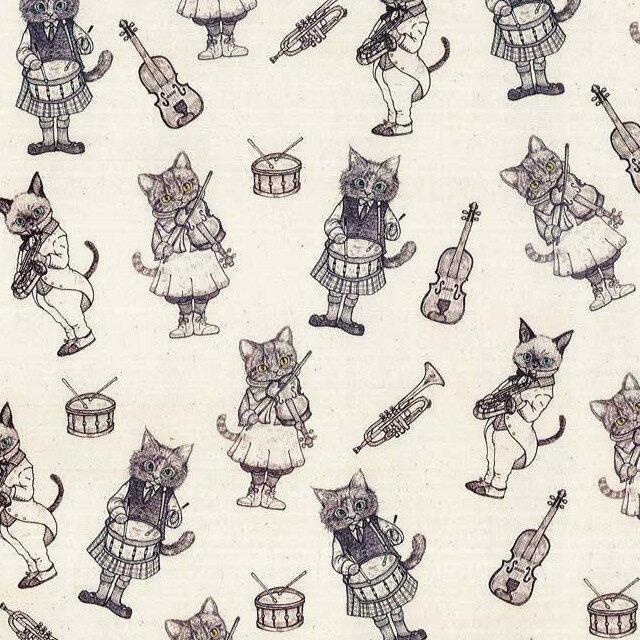 Ringoリンゴ オックス生地<Music Cat>(ミュージックキャット)ブランチドアーモンド【RIH-2A】