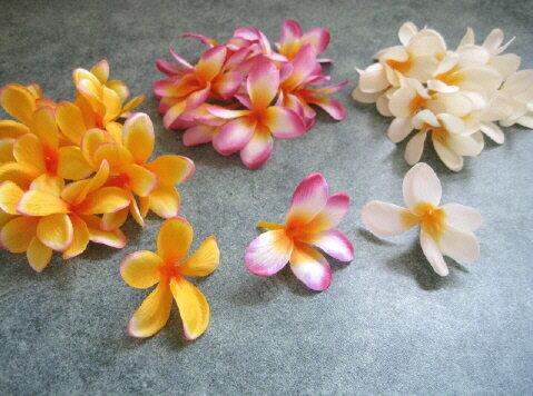 【花材】お買い得・造花 プルメリアヘッド1袋同色12個入り