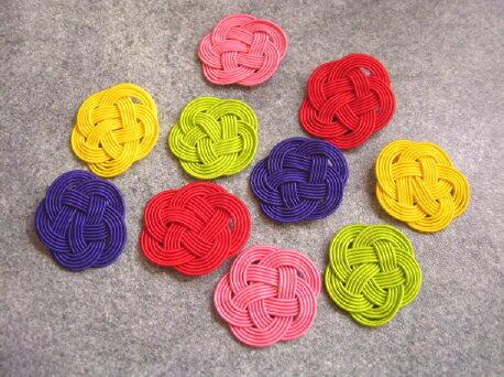 【花材】和風・水引 五色平梅結び1袋10個アソート 小