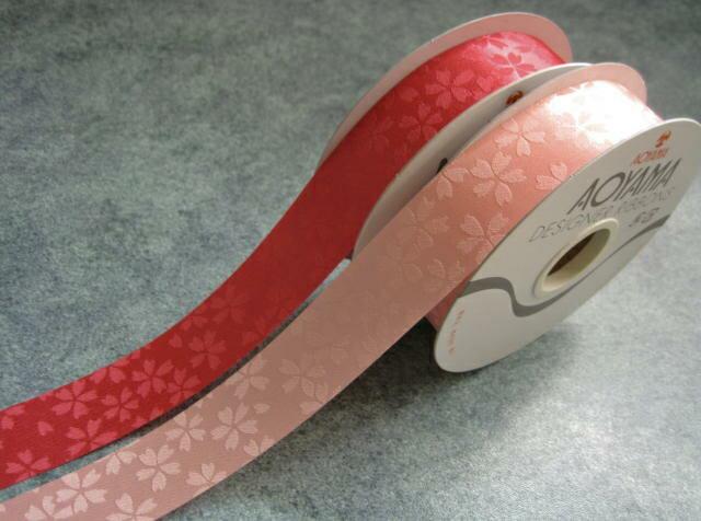 【花材】和風・青山リボン 小桜 幅25mm×24M 1巻