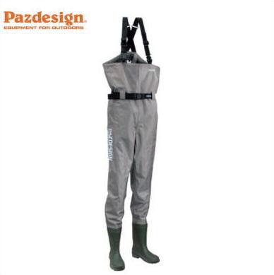 【パズデザイン】PPW-451 PVC ブーツチェストハイウェーダー FS フェルトスパイク底 ウエーダー