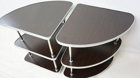 【送料無料】全自動麻雀卓に最適穴なしサイドテーブル2脚セット灰皿・ドリンクホルダー・起家・焼き鳥マーク付きMJ-REVOシリーズ健康麻雀
