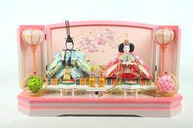 わかな平飾り 白ピンク 吉徳大光298 雛人形 ひな人形【おひなさま お雛様 雛人形 セット 雛人形セット コンパクト 小型 おしゃれ かわいい 可愛い モダン 高品質 高級 上質 上品 雛祭り ひな祭り 孫 贈り物 日本製】