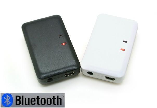 送料無料 ヘッドホン/AUX/車内AUX音声受信用 3.5mm ステレオ Bluetooth レシーバー ワイヤレス 有線ヘッドフォン受信用(ブラック、ホワイト)2カラー選択