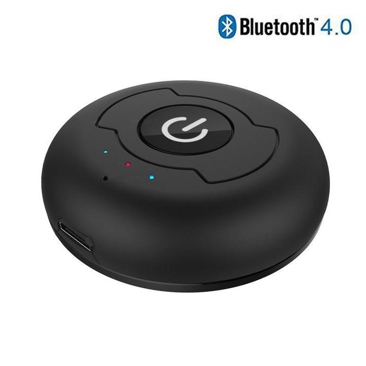 送料無料 マルチポイント 3.5mm オーディオ Bluetooth トランスミッター 2台音声受信器対応3.5mm無線音声送信器 1入力−2出力 超小型