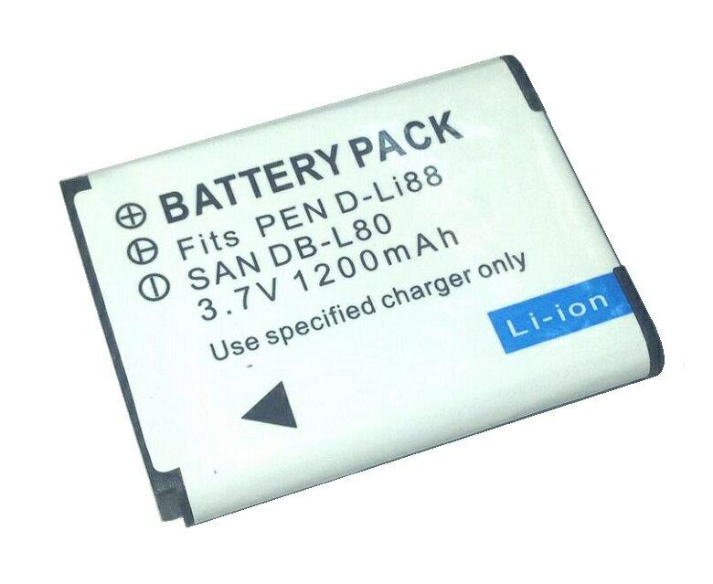 送料無料 PENTAX D-Li88対応 互換 バッテリー リチウム電池 For SANYO DB-L80/DMX-CA100