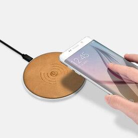 【マーサリンク】ICARER IWXC0001 iPhone X(テン)XS/XS Max/XR/8/8 Plus対応 本革 ビンテージ レザー Qi ワイヤレス チャージャー パッド 無線充電器 Max 10W出力 (ブラック、カーキ)2カラー選択
