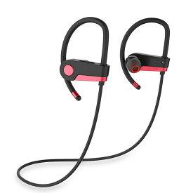 送料無料 EP-C6 Bluetooth イヤホン ワイヤレス 重低音 高音質 ブルートゥース 落下防止 耳掛け型 5h連続再生 180h待機 防水 防汗 マイク内蔵 スポーツ ヘッドホン ランニング用 iPhone Android 対応 (シルバー レッド)2カラー選択
