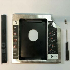 送料無料 2.5インチ HDD・SSD マウンタ 光学ドライブベイ用 SATA/HDDマウンタよりCD/DVD CD ROM HDD CADDY に置き換えます