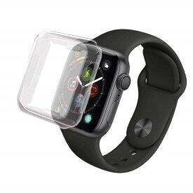 Apple Watch 38mm/40mm/42mm/44mmサイズ選択 TPUケース フル カバー TPUメッキ保護ケース 耐衝撃性 脱着簡単 アップル ウォッチ (クリア、ブラック、シルバー、ブルー、ゴールド、ローズゴールド)6色選択